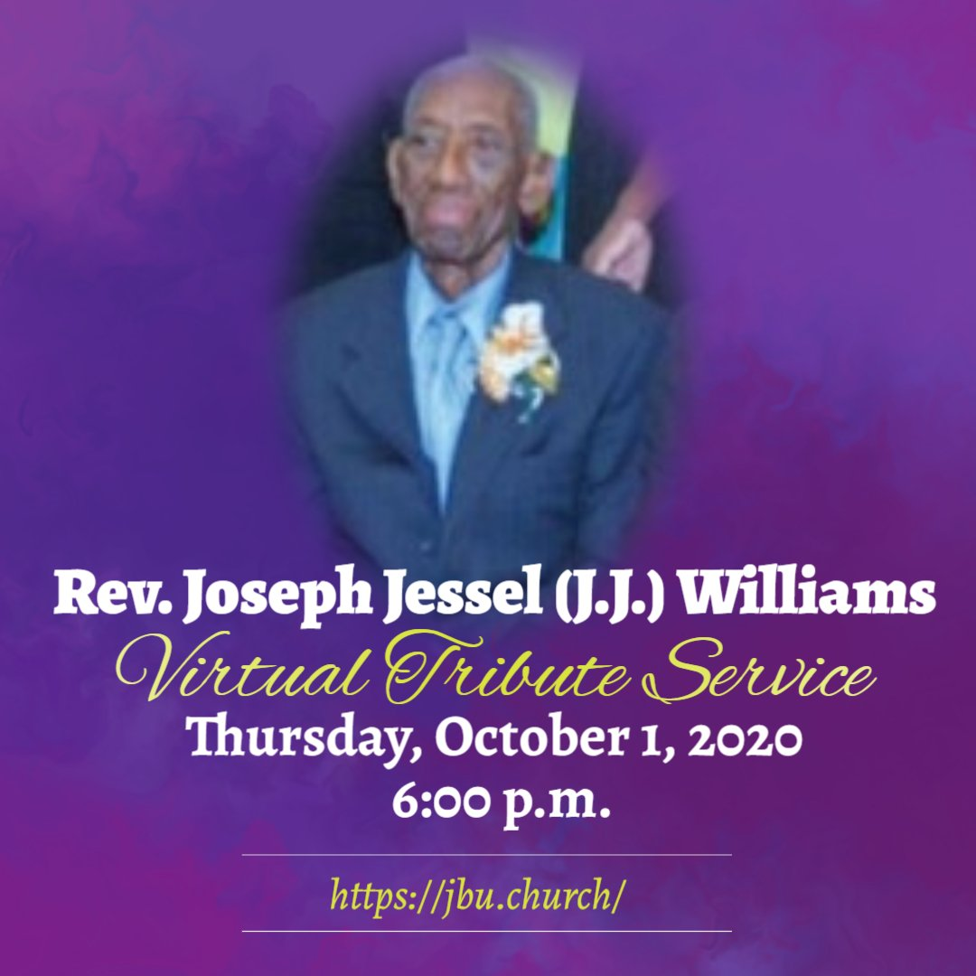 Virtual Tribute Service – Rev. Joseph Jessel (J.J.) Williams