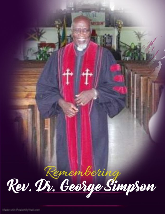 Memorial Service – Rev. Dr. George Simpson