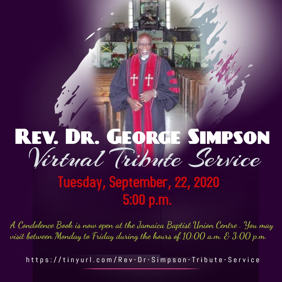 Virtual Tribute Service – Rev. Dr. George Simpson