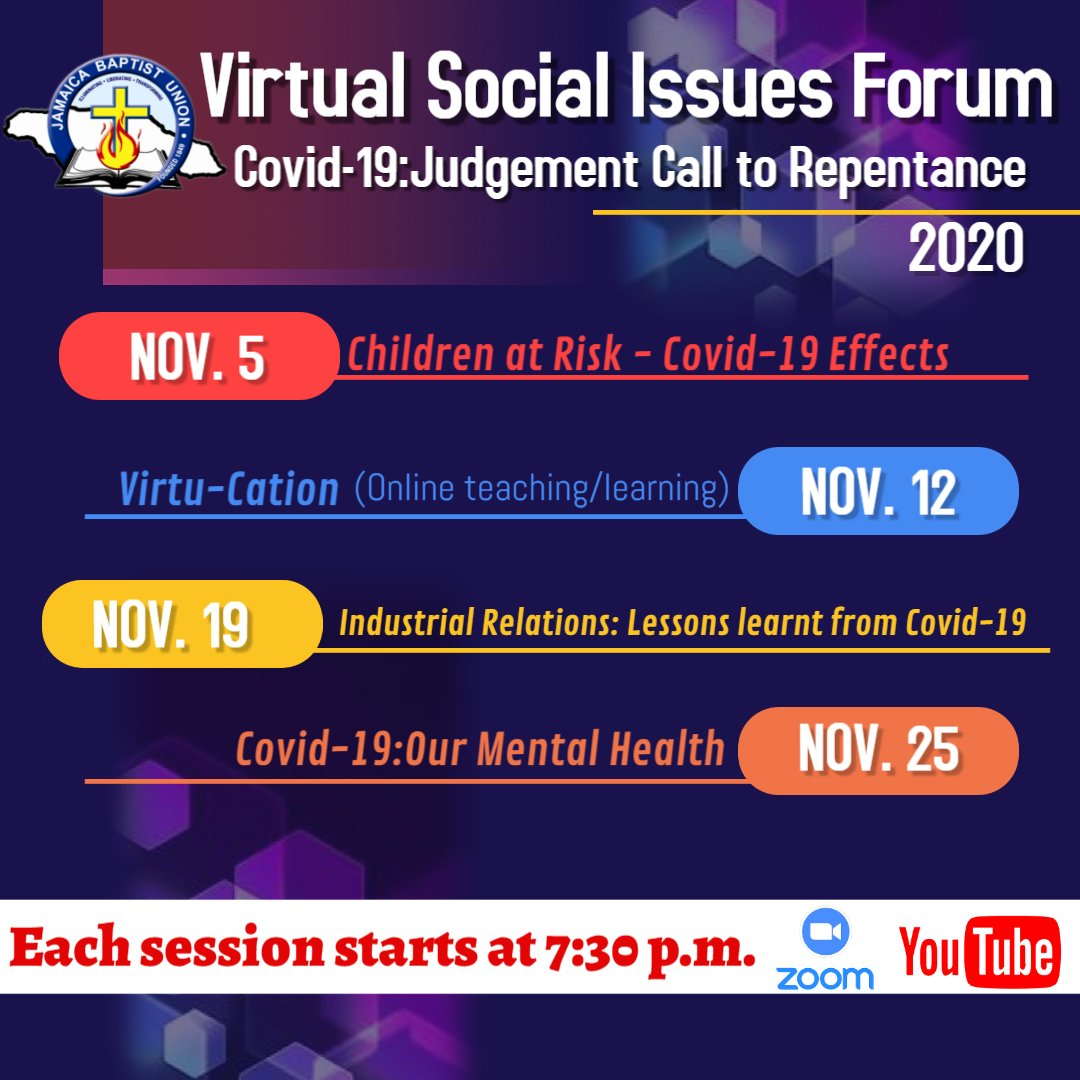 Virtual Social Issues Forum – Covid-19: Judgement Call to Repentance