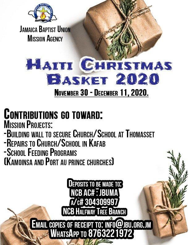 Haiti Christmas Basket 2020