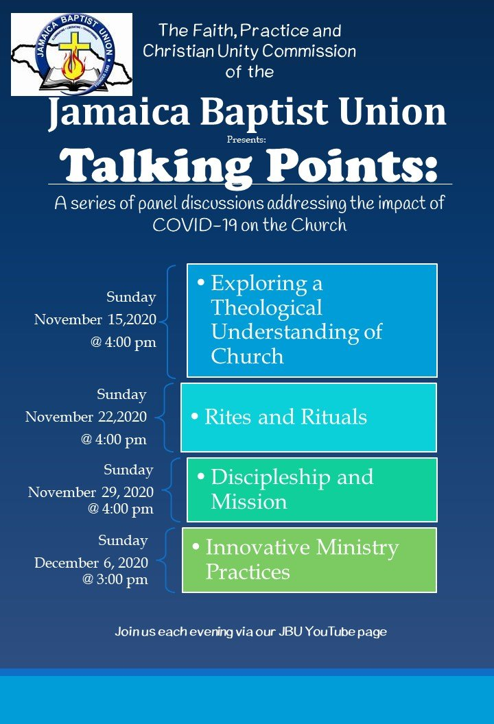 Talking Points: A series of panel discussions addressing the impact of Covid-19 on the Church